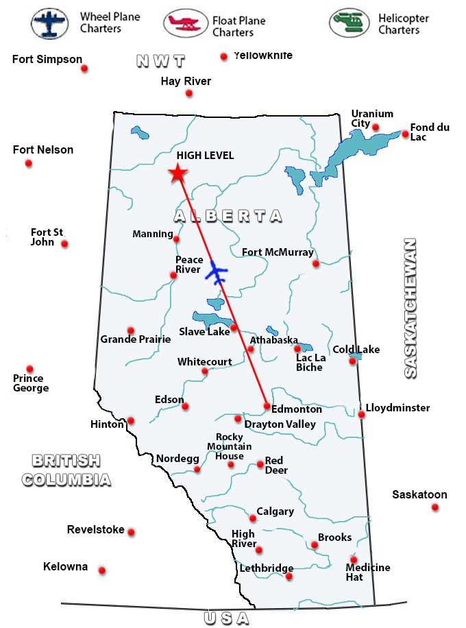 Charter Flights To High Level Alberta Charter Flight Network