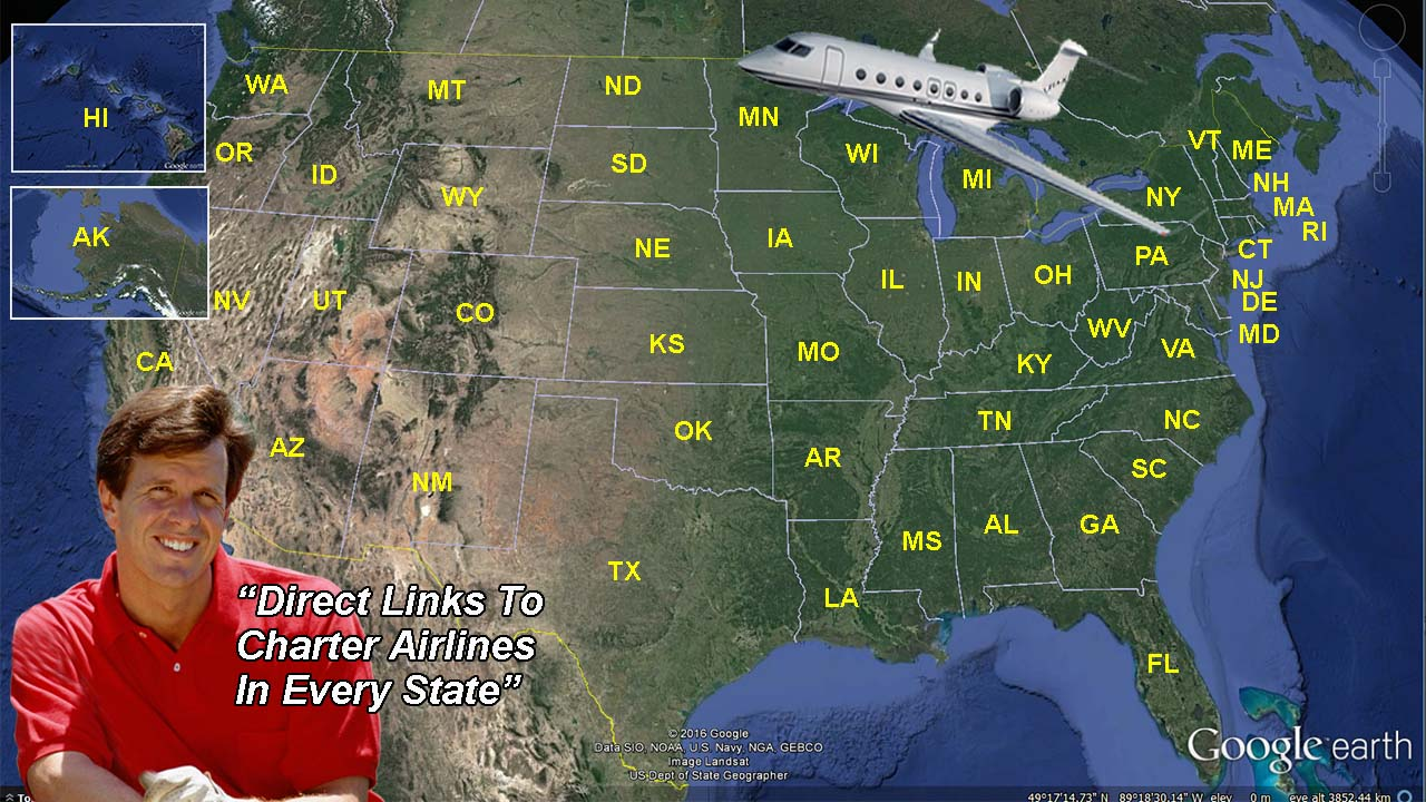 USA CHARTER FLIGHT DIRECTORY