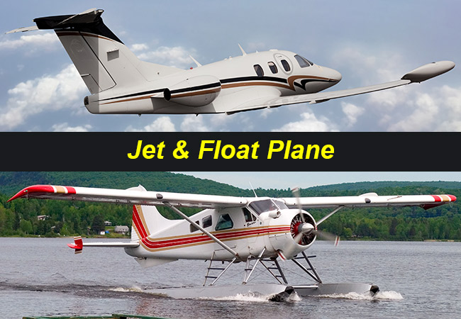 Jet and Float Plane Charter Flights